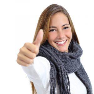 dental visit happy patient