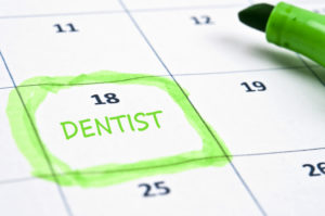 dentist appointment on calendar