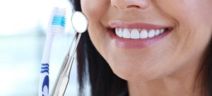 woman's healthy smile